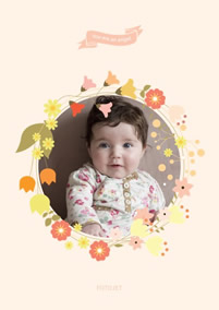 Baby flower collage