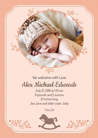 electronic birth announcements