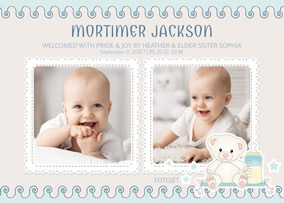 Baby Cards Make Free Printable New Baby Cards Online Fotojet