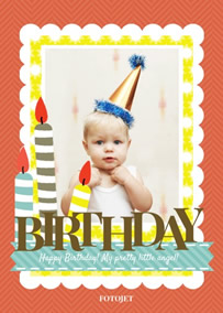 Birthday Greetings Baby Greeting Card