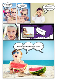 Kids photo comic