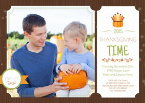 Photo Thanksgiving card