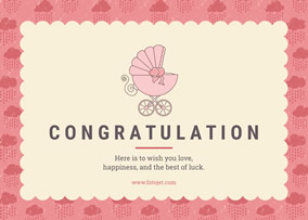 Baby Congratulations Card