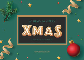 Free Christmas Cards Make Your Own Christmas Cards Online FotoJet - Christmas greeting card template