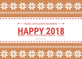 symmetrical new year greeting card template