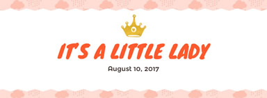 Crown baby shower girl Facebook cover