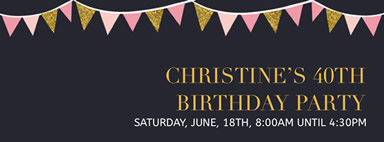 Banner birthday party Facebook cover