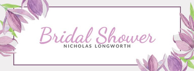 Bridal shower Facebook cover