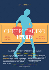 Cheerleading flyer