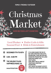 Christmas market promotional flyer
