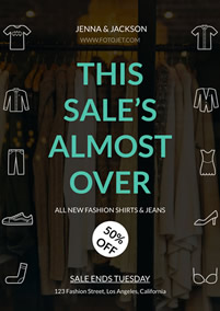 Clothes shop new fashion sale flyer