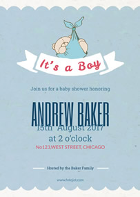 Free online baby shower invitation maker fotojet baby boy shower baby shower invitation stopboris Images