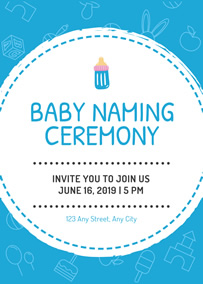Make Naming Ceremony Invitation Cards Online For Free Fotojet