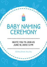 Make Naming Ceremony Invitation Cards Online for Free | FotoJet
