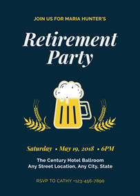Beer retirement party invitation