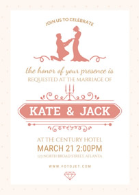 Online Printable Wedding Simple Rustic Invitation