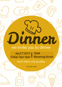 dinner invitations design your invitations for dinner party online