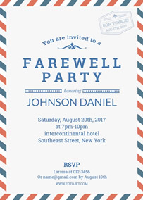 Thanksgiving Party Invitation Template · Farewell Party Invitation  Invitation For Party Template
