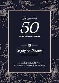 50th Anniversary invitation
