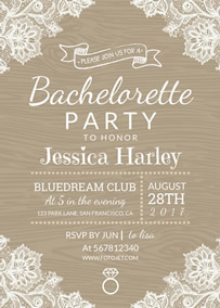 bridal shower invitation bachelorette party invitation template