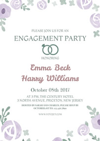 wedding invitation engagement invitation