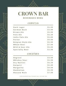 Bar Menu Template Free from www.fotojet.com