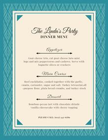 dinner menu maker create dinner menus online for free fotojet