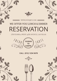 Catering reservation information