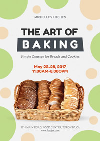Education class baking poster