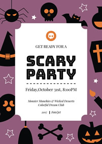 Halloween Party Poster Template Holiday Scary