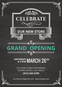 Shop opening poster