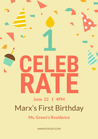 Marx first birthday poster