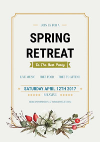 Spring retreat party