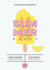 Summer party and sunny beach