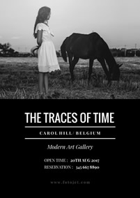 Traces of time exhibition poster