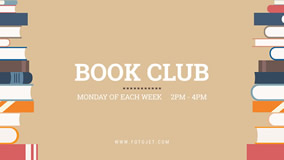 YouTube banner for book club