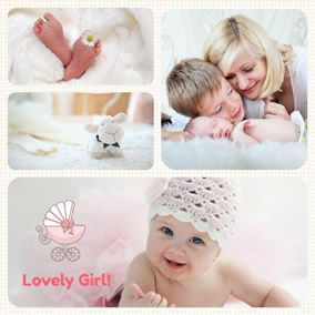 love collage baby collage