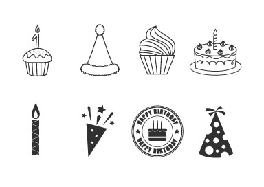 Simple birthday clipart