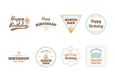Birthday related logos