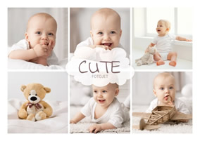 Cute baby collage