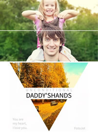 Hands of dad