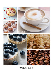 Classic collage of food