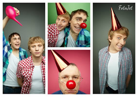 Clown photo collage