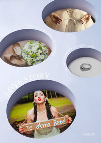 Funny collage of wedding