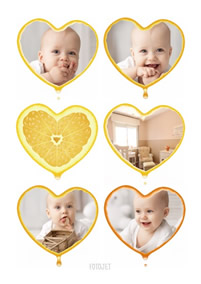 Baby heart collage