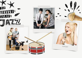 Jazz music collage