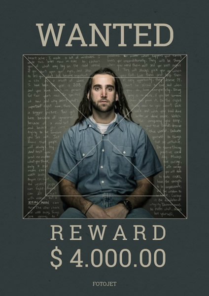Wanted photo poster