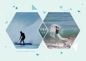 Surfing collage