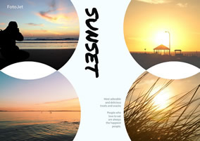 Sunset sea collage