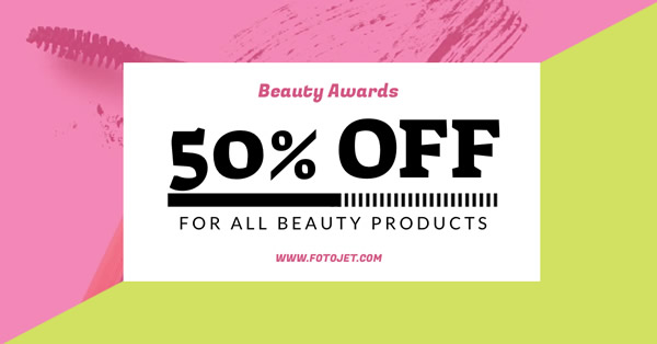 Beauty Product Discount Facebook Ad Template
